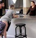 Daddy Fucks His Stepdaughter Cara May After a Breakfast